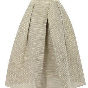 Tibi Raffia Organza Skirt